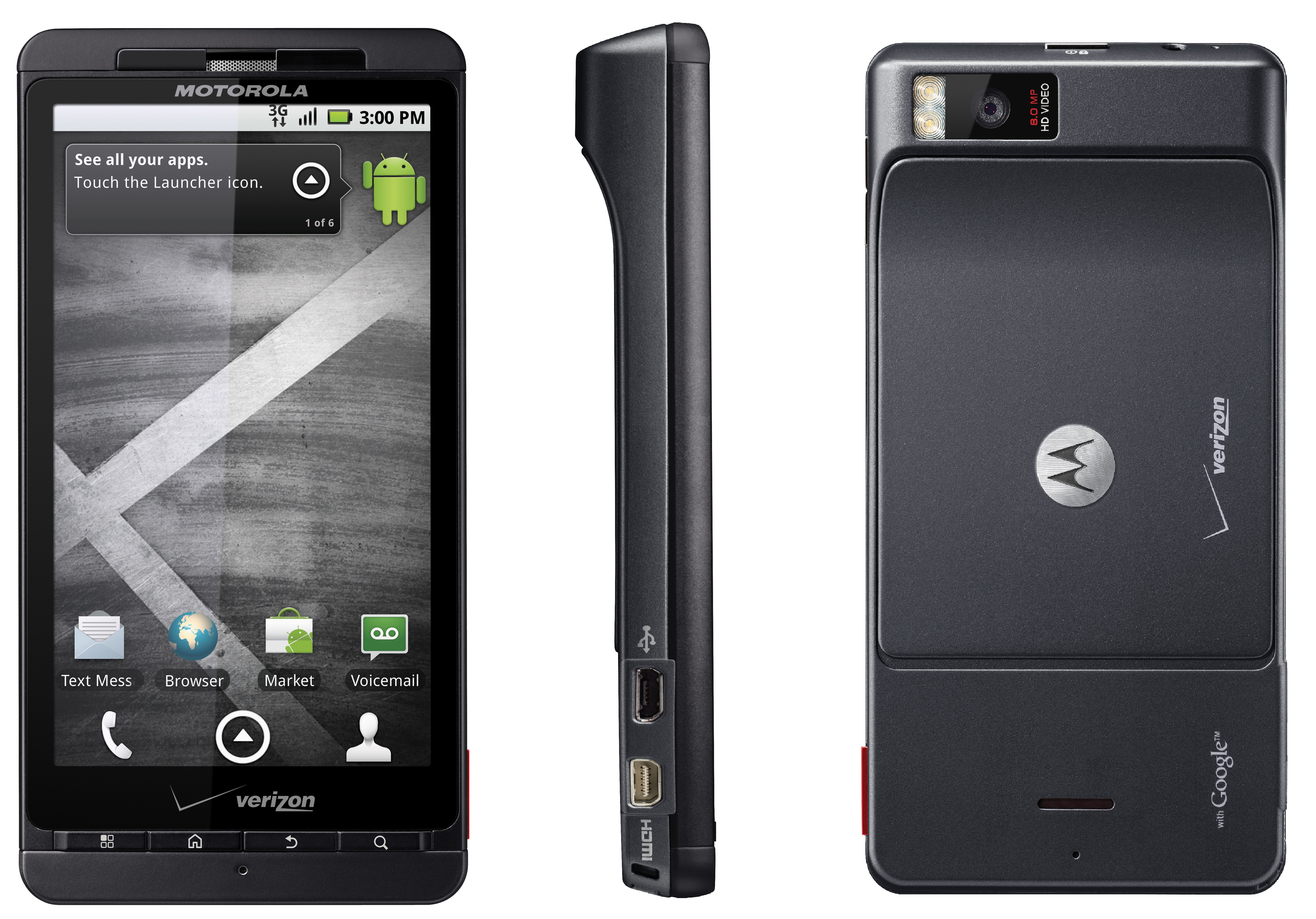 Motorola Droid X, Droid 2 and Droid 3